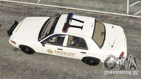Ford Crown Victoria 1999 Sheriff v1.0 для GTA 5 вид сзади