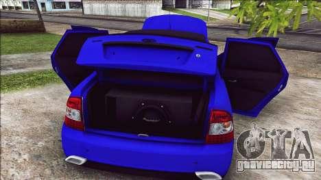 Ваз 2170 Vip Style для GTA San Andreas вид сзади