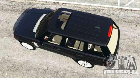Range Rover Supercharged для GTA 5 вид сзади