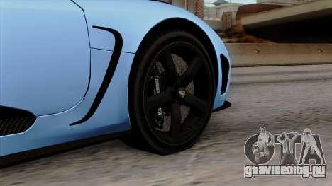 Koenigsegg Agera R 2014 Carbon Wheels для GTA San Andreas вид сзади слева