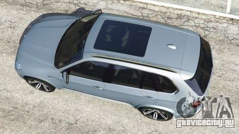 BMW X5 M (E70) 2013 v1.01 для GTA 5 вид сзади