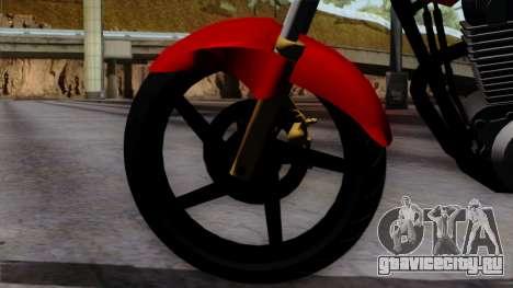 Honda Twister 2014 для GTA San Andreas вид сзади слева