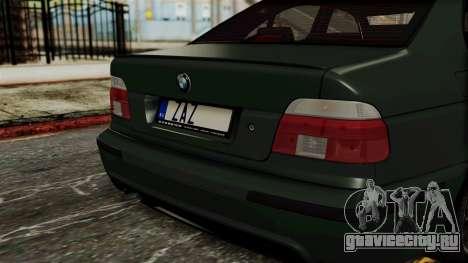 BMW 530D E39 1999 Mtech для GTA San Andreas вид сзади