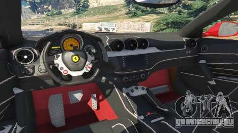 Ferrari FF для GTA 5 вид сзади справа