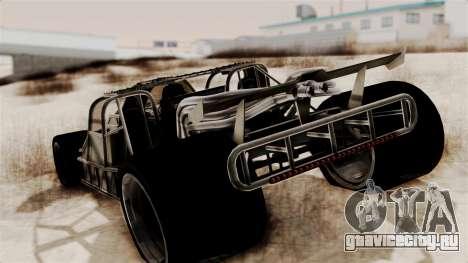 Camo Flip Car для GTA San Andreas вид слева