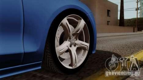 Audi A7 Sportback 2009 для GTA San Andreas вид сзади слева
