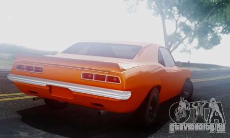 Chevy Camaro 69 для GTA San Andreas вид справа