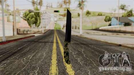 Новый ножик камуфляж для GTA San Andreas второй скриншот