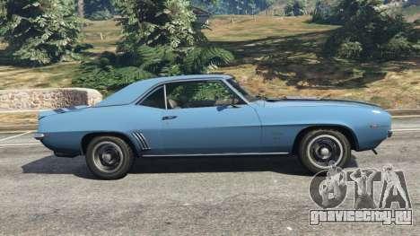 Chevrolet Camaro SS 350 1969 для GTA 5 вид слева