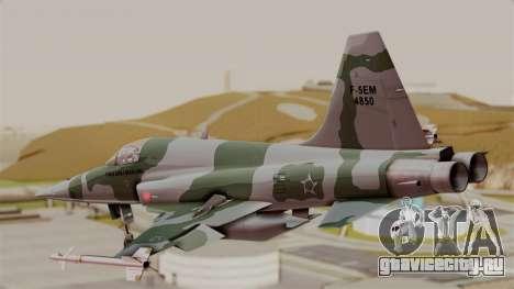 Northrop F-5E Tiger II Texture FAB для GTA San Andreas вид слева