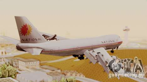 Boeing 747-100 National Airlines для GTA San Andreas вид слева
