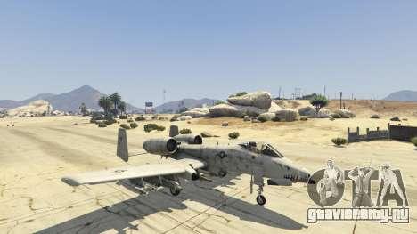 A-10A Thunderbolt II 1.1 для GTA 5 четвертый скриншот