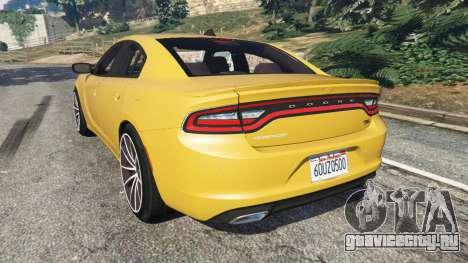 Dodge Charger RT 2015 v1.3 для GTA 5 вид сзади слева