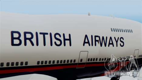 Boeing 747 British Airlines (Landor) для GTA San Andreas вид сзади