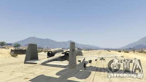 A-10A Thunderbolt II 1.1 для GTA 5 шестой скриншот
