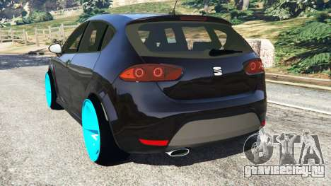 SEAT Leon II 2010 [Beta] для GTA 5 вид сзади слева