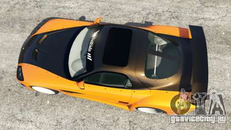 Mazda RX-7 Veilside Fortune v0.1 для GTA 5 вид сзади