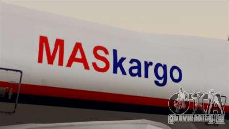 Boeing 747 MasKargo для GTA San Andreas вид сзади
