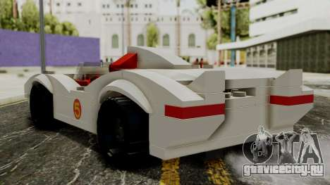 Lego Mach 5 для GTA San Andreas вид слева