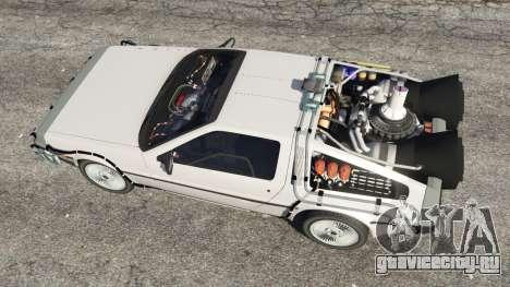 DeLorean DMC-12 Back To The Future v0.3 для GTA 5 вид сзади
