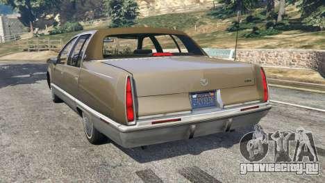 Cadillac Fleetwood 1993 для GTA 5 вид сзади слева