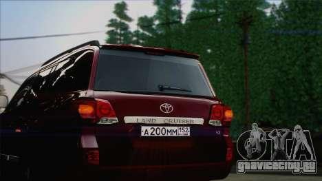 Toyota Land Cruiser 200 для GTA San Andreas вид изнутри