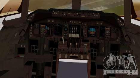 Boeing 747 MasKargo для GTA San Andreas вид изнутри