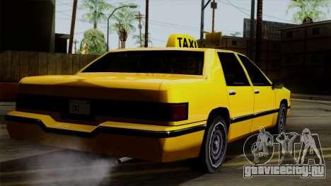Elegant Taxi для GTA San Andreas вид слева