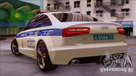 Audi A6 ДПС для GTA San Andreas вид слева