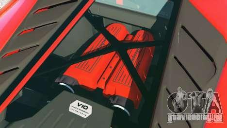 Lamborghini Huracan 2015 для GTA 5 вид сзади справа