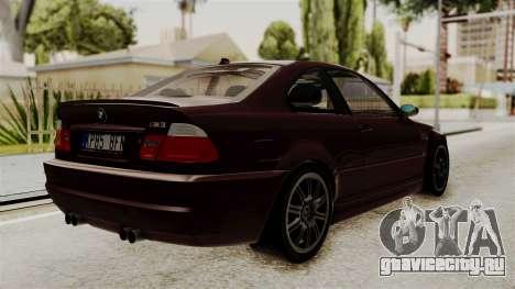 BMW M3 E46 2005 Stock для GTA San Andreas вид слева