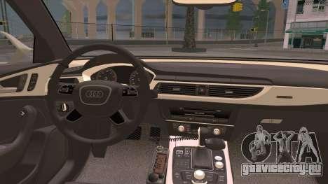Audi A6 ДПС для GTA San Andreas вид изнутри
