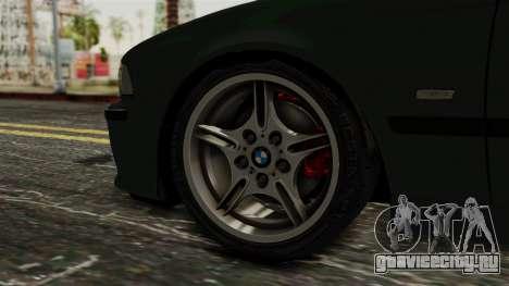 BMW 530D E39 1999 Mtech для GTA San Andreas вид сзади слева