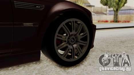 BMW M3 E46 2005 Stock для GTA San Andreas вид сзади слева