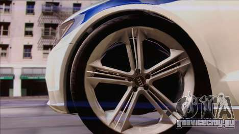 Audi A6 ДПС для GTA San Andreas вид сзади