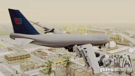 Boeing 747 United Airlines для GTA San Andreas вид слева