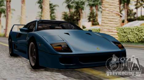 Ferrari F40 1987 with Up without Bonnet HQLM для GTA San Andreas