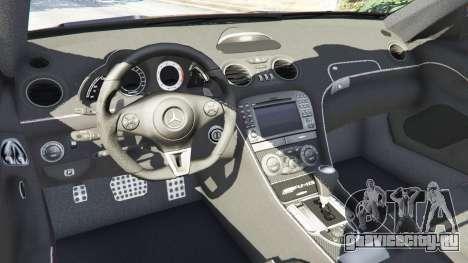 Mercedes-Benz SL 65 AMG Black Series для GTA 5 вид сзади справа