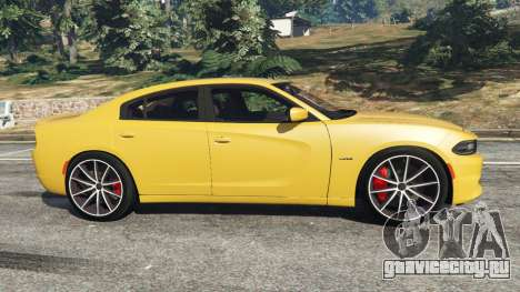 Dodge Charger RT 2015 v1.3 для GTA 5 вид слева