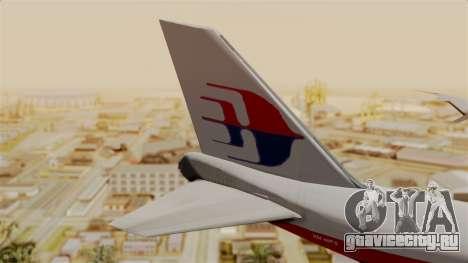Boeing 747 MasKargo для GTA San Andreas вид сзади слева