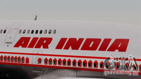 Boeing 747-400 Air India Old для GTA San Andreas вид сзади