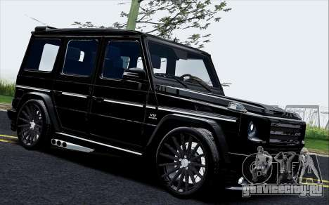 Mercedes Benz G65 Black Star Edition для GTA San Andreas вид слева