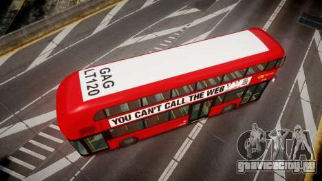 Wrightbus New Routemaster Go Ahead London для GTA 4 вид справа