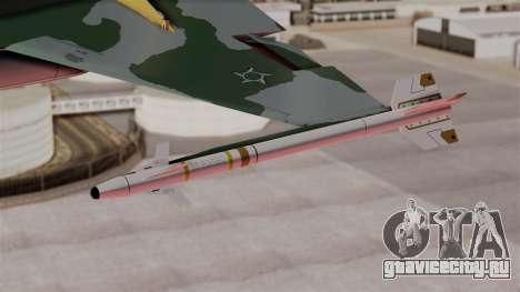 Northrop F-5E Tiger II Texture FAB для GTA San Andreas вид справа