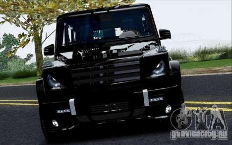 Mercedes Benz G65 Black Star Edition для GTA San Andreas вид изнутри