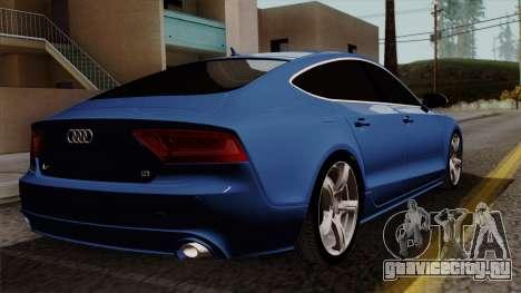 Audi A7 Sportback 2009 для GTA San Andreas вид слева