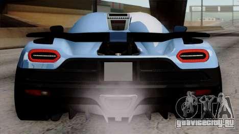 Koenigsegg Agera R 2014 Carbon Wheels для GTA San Andreas вид снизу