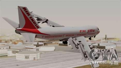 Boeing 747-200 Air India VT-ECG для GTA San Andreas вид слева