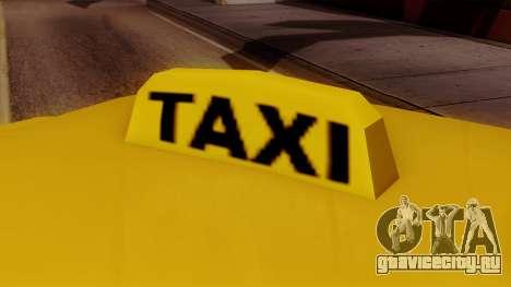 Elegant Taxi для GTA San Andreas вид сзади слева