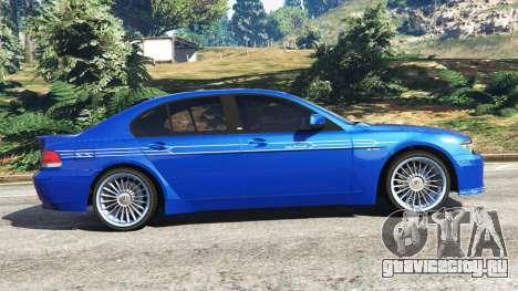 BMW B7 (E65) Alpina для GTA 5 вид слева